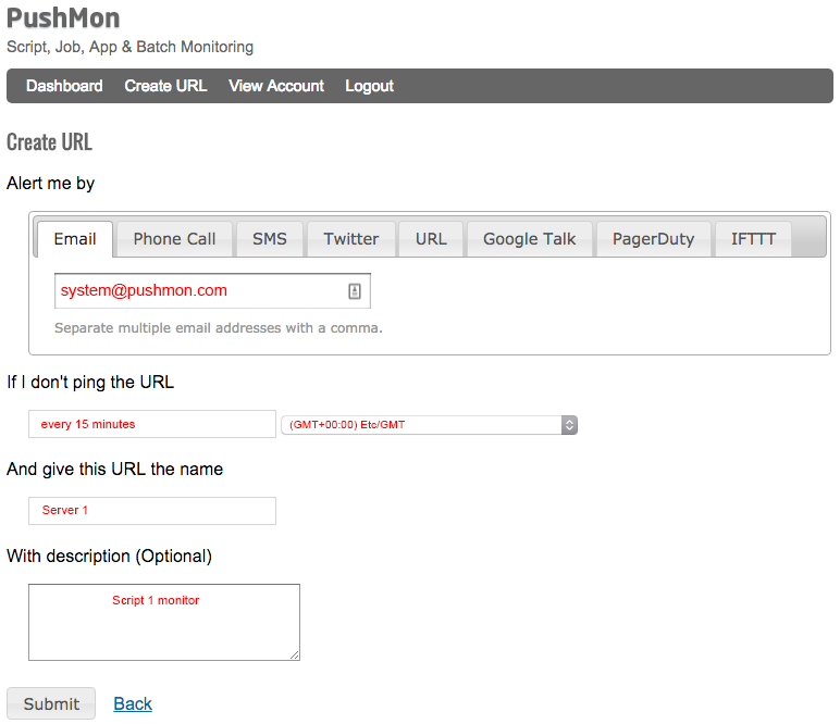 Create URL