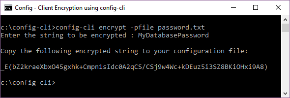 Client-side Encryption using config-cli